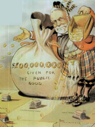 Andrew Carnegie Karikatur