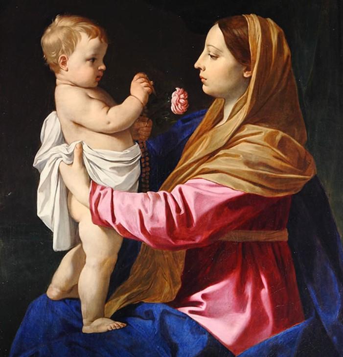 Maria mit Jesus als Säugling - Bild von Simone Cantarini