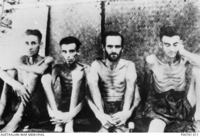 Australische und holländische Kriegsgefangene in Thailand