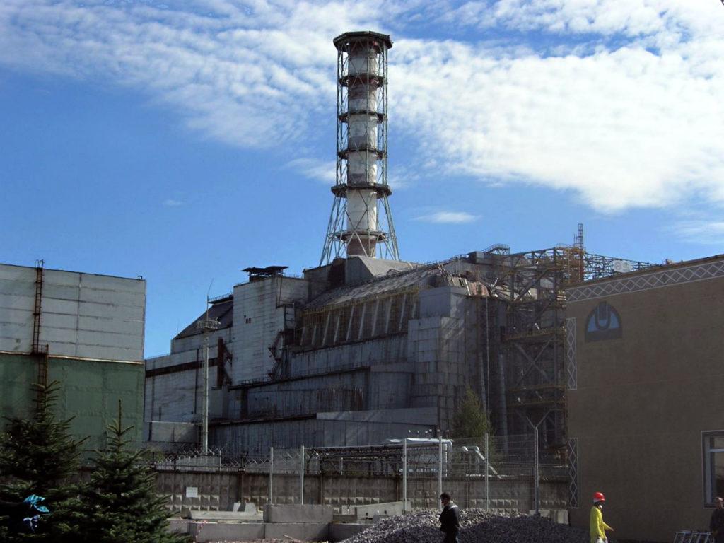 Die Reaktorruine von Tschernobyl