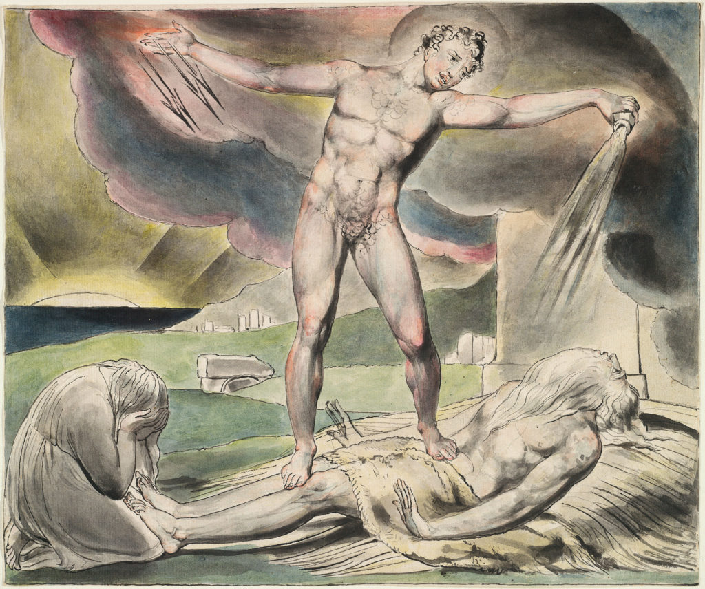 Die Marter Hiobs von William Blake